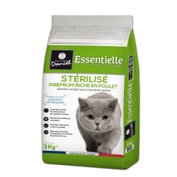 Premium croquettes for sterilized cats – Abundant in chicken (3kg)