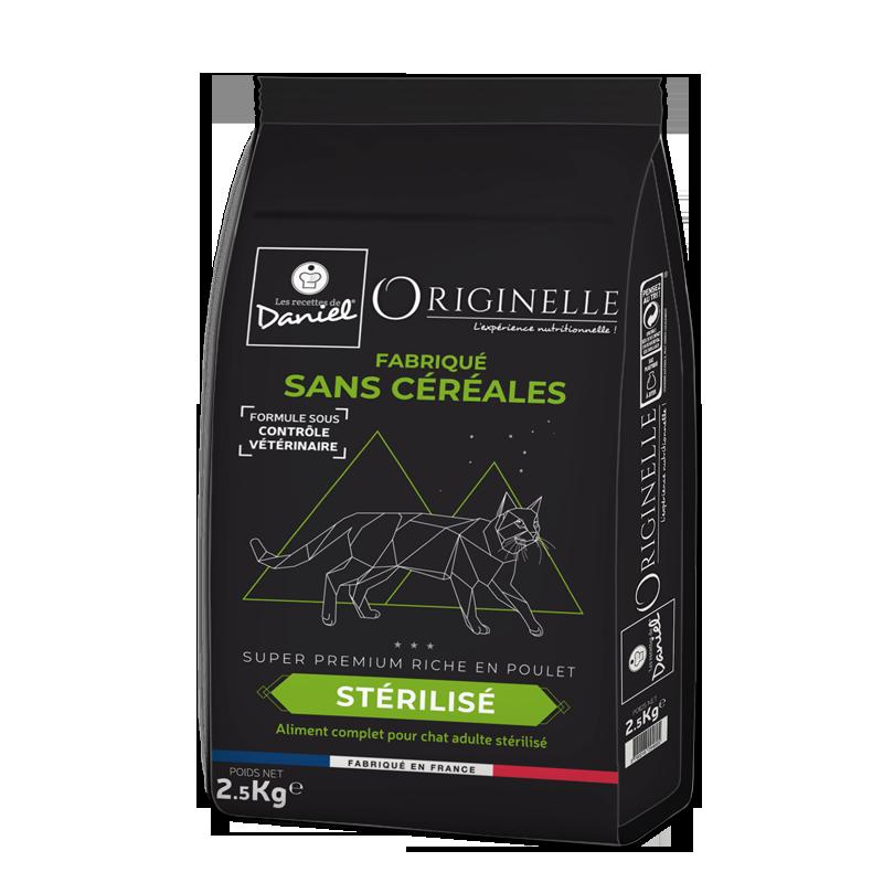 Croquettes Originelle chat stérilisé poulet SANS CÉRÉALES - 2,5 kg