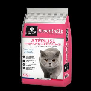 Croquettes Essentielle chat stérilisé riche en saumon - 3 kg