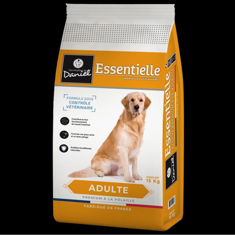 """Croquettes premium chien Les recettes de Daniel """"Essentielle"""" (15 kg)"""