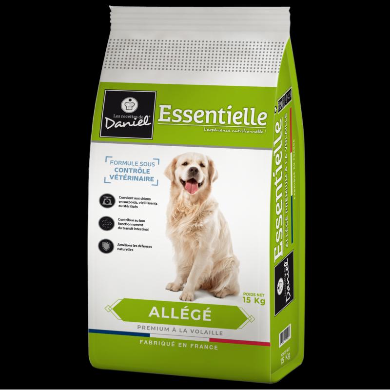 """Croquettes premium chien agé ou en surpoids Les recettes de Daniel """"Essentielle"""" Allégé (15 kg)"""