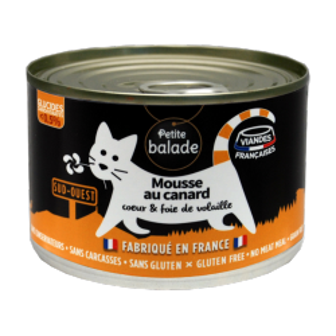 "Mousse au canard 200G - Humide ""Petite balade"""