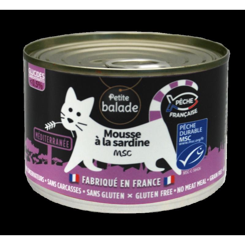 "Mousse à la sardine 200G - Humide ""Petite balade"""