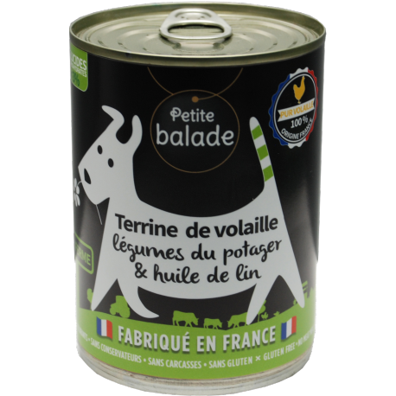 "Terrine de volaille 400G - Humide ""Petite balade"""