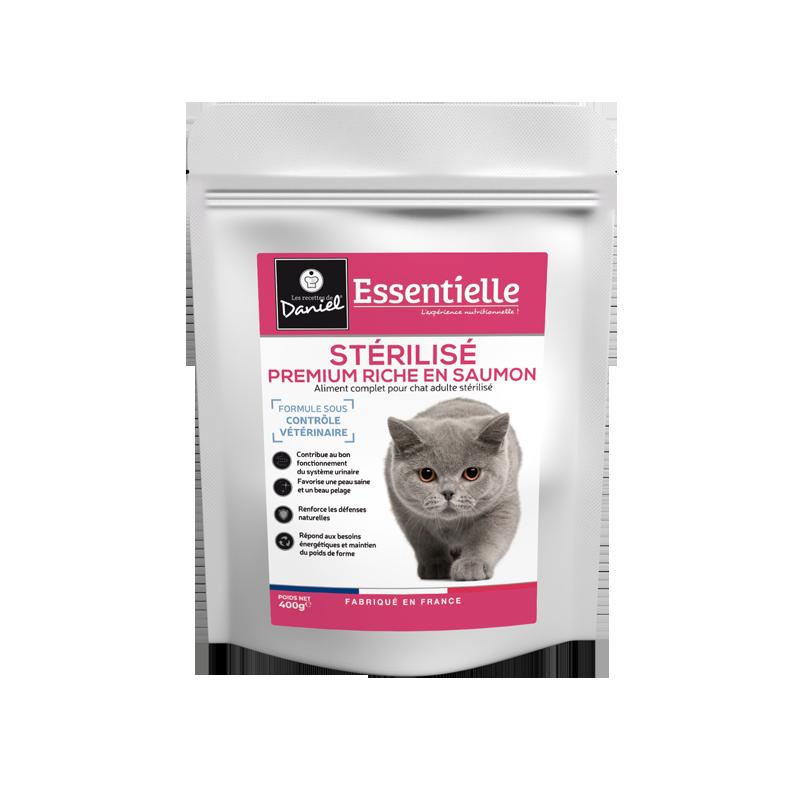 Essentielle chat sterilise saumon 400g