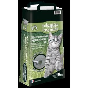 Litière agglomérante fresh cat à l'argile verte - 8 KG